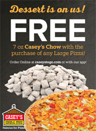 Casey's Monthly Pizza Special
