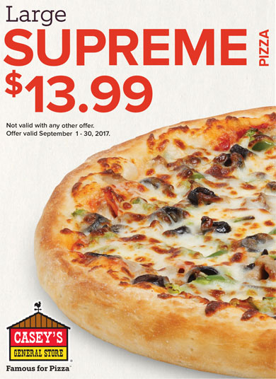 Casey's September Pizza Special