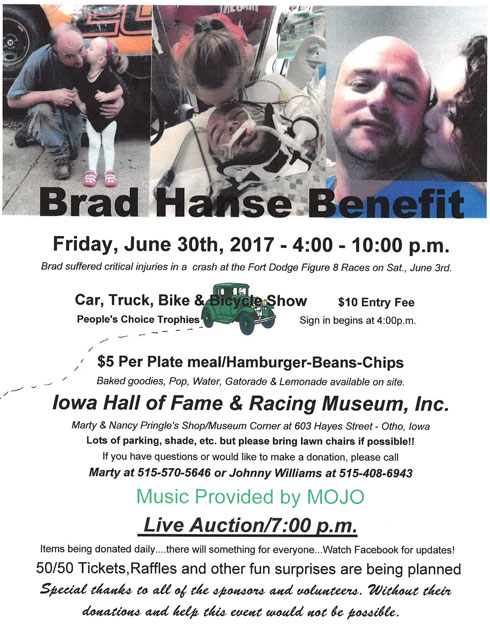 Brad Hanse Crash Benefit