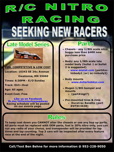 Owatonna Dirt Oval RC Track
